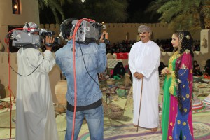 Omanis from the show Asala (&quot;Authentic&quot;) reporting on the Muscat Festival