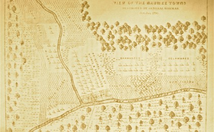 Miami Towns Destroyed by Harmar ca. 1790