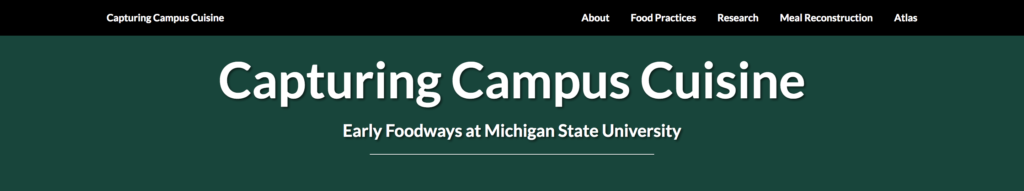Capturing Campus Cuisine: Top of Landing Page